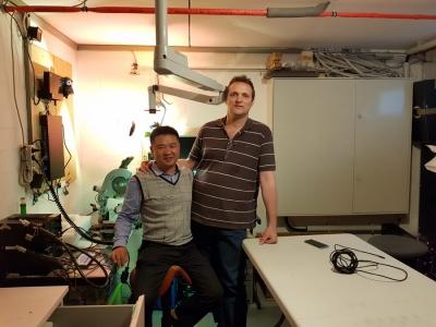 James und Werner in der Werkstatt