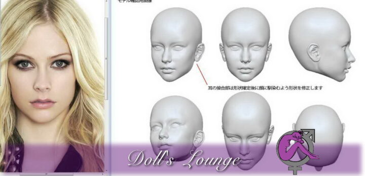 3D Modell nach Fotovorlage, für Büsten , Statuen oder Customized Premium Lovedoll, Individualisierte Premium Gummipuppe nach Fotovorlage für Dollslounge Premium Sexpuppen. Geben Sie Ihrer Liebespuppe Ihr Wunschgesicht!