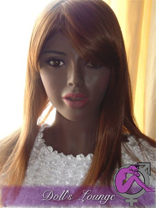 Doll's Lounge Chocolate Ebony Girl Laninja-BellaMia, 156cm Cup G - Generation 10-2016 Face #121 Sexpuppe