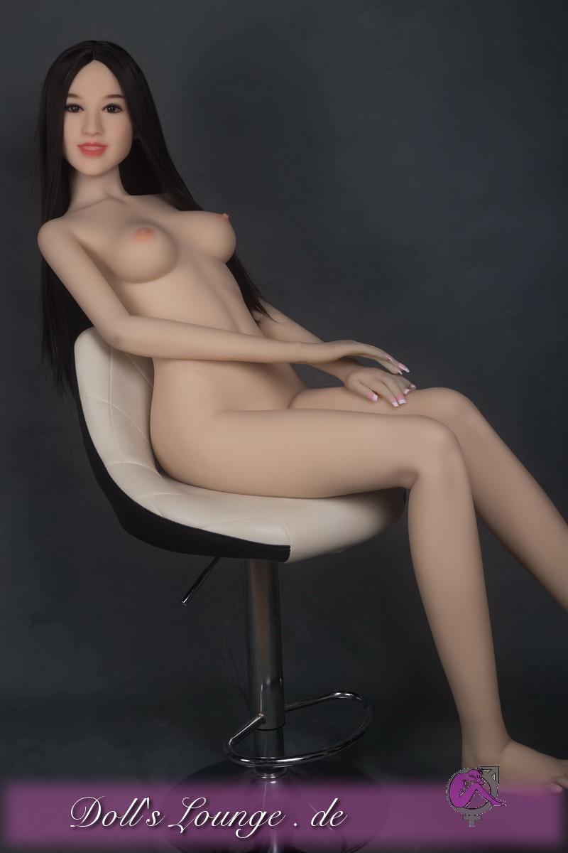 Französischer TPE Liebeszauber, die lächelnde Liebesgummipuppe Paris mit 166cm