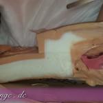Silikonpuppenentsorgung, nach entgräten / ausbeinen kommt die Materialtrennung. Leider viel Schimmel zwischen den Schichten