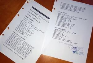 Chinnesches Protokoll von der Qualitätskontrolle, welches hier nochmals Punkt für Punkt überprüft wird und erst nach Vaginalversiegelung entgültig abgezeichnet und zur Dokumentation archiviert wird.