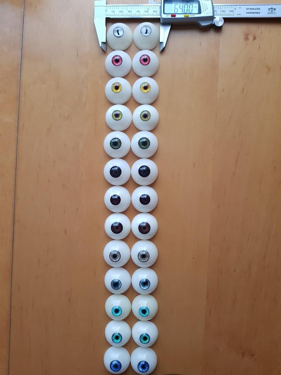 Augen, Ersatzaugenpaar für Doll's Lounge Puppen, Spare Eyes for Lovedolls