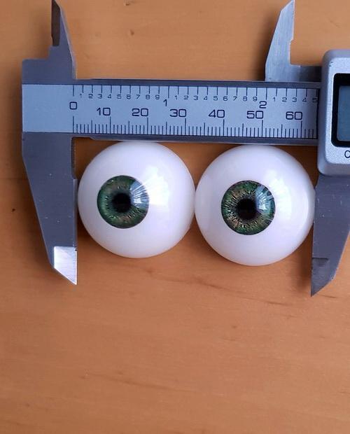 Augenfarbe Deep Forest Green Ersatzaugenpaar für Doll's Lounge Puppen, Spare Eyes for Lovedolls