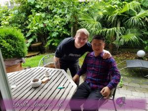 Kunde trifft James bei uns am 30.06.2017