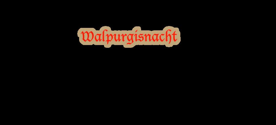 Walpurgisnacht bei Dollslounge Schriftzug