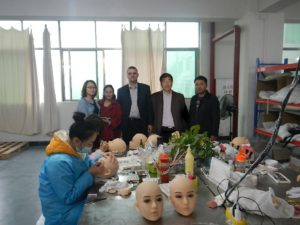 Jinsan Audit - Dollslounge March 2015 - Joyo (Jinsan) , Joyce (OR-Doll), Werner (Doll's Lounge DE), David & James (Doll's Lounge China)